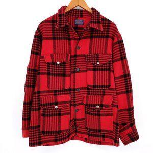 VTG Pendleton Wool Mackinaw Plaid Cruiser Jacket L